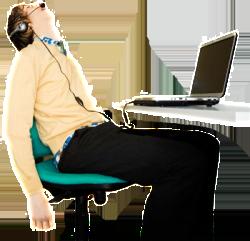 Sleep at desk - sized