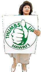 Thumbs up Hawaii